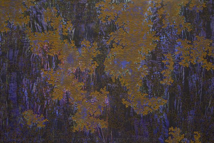 Struktur Blau 10, 2018, 94 x 140,5 cm