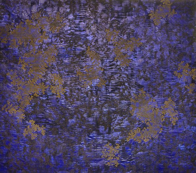 Struktur Blau 5, 2018, 196 x 220 cm