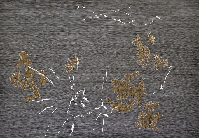 Struktur und Raum 6, 2017, 90 x 126 cm