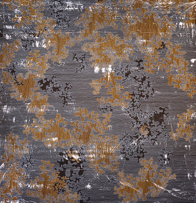 Struktur und Raum 4, 2014, 180 x 180 cm, Preis für Innovation im großen Format (Quilttriennale 2015)
