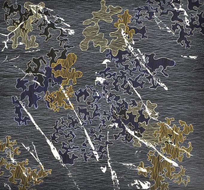 Struktur und Raum 7, 2017, 46 x 49 cm