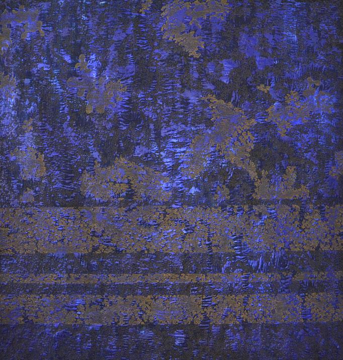 Struktur Blau, 2017, 176,5 x 183 cm