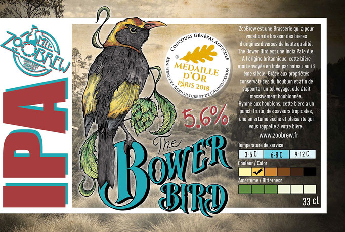 Bower Bird IPA India Pale Ale Montpellier ZooBrew Brasserie Animale
