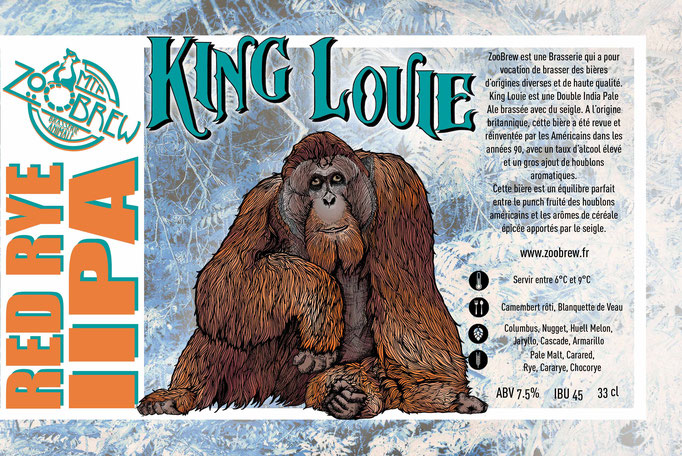 King Louie IIPA Double red Rye IPA  Montpellier ZooBrew Brasserie Animale