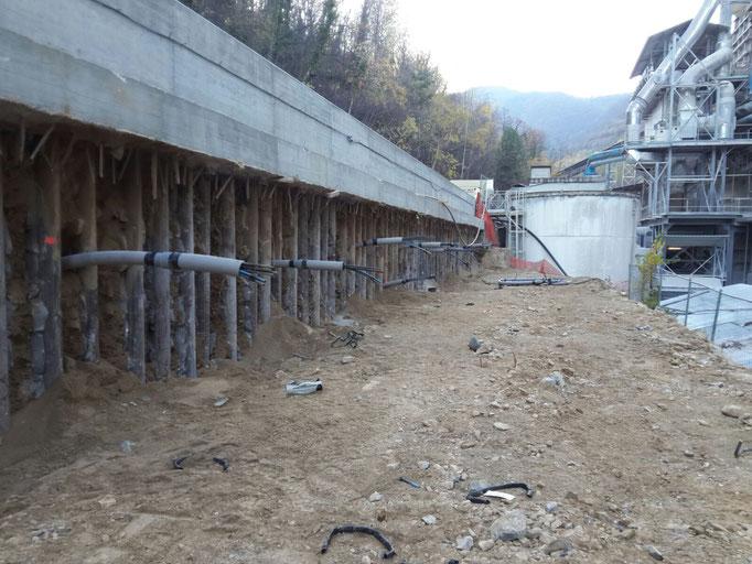 Realizzazione di berlinese tirantata per permettere scavo di 10 mt in totale sicurezza - Piemonte - CN