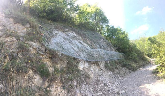 Consolidamento di parete con reti paramassi - Piemonte - Provincia di Cuneo