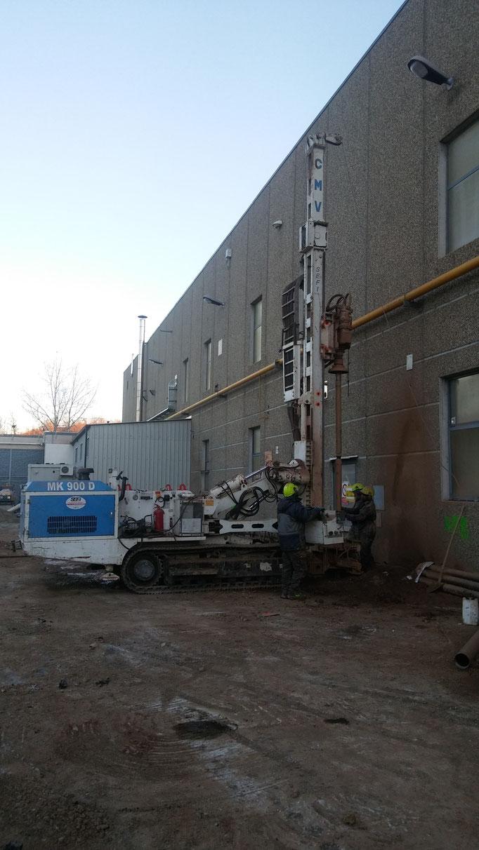Realizzazione di micropali per fondazioni capannone con iniezioni a pressione - Liguria - SV