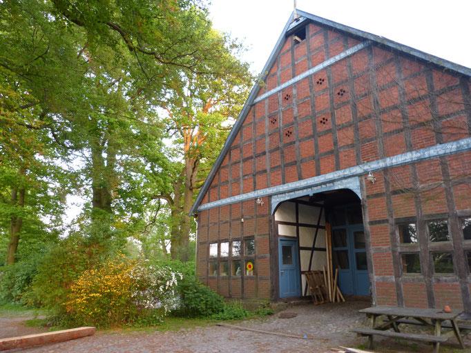 Giebelfront der Zimmerei Teltemann im Hof Achtern Hagen