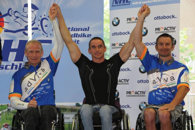 Torsten Purschke 2. und Patrick Gabriel 3. bei der Siegerehrung