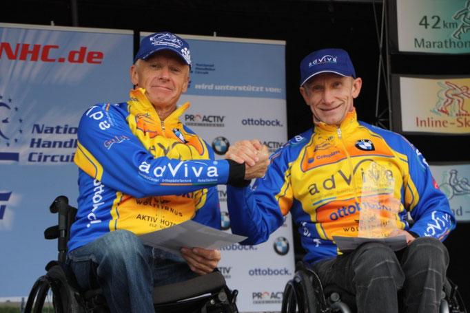 von links: 2.Sieger Olaf Heine und 1.Sieger Torsten Purschke