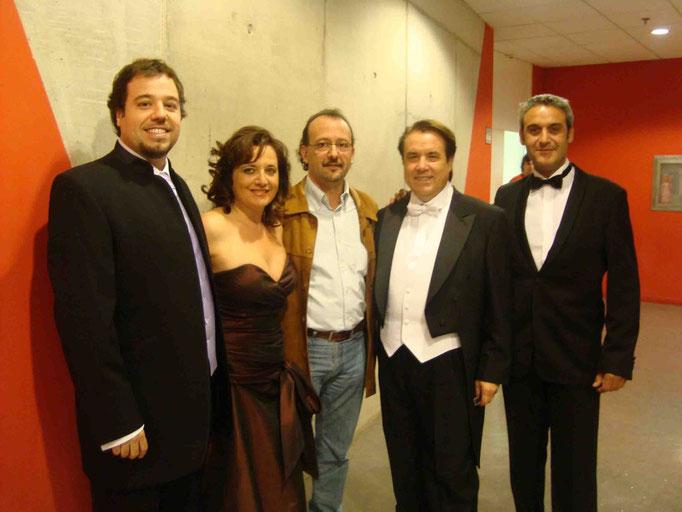 Eduardo Aladren, Beatriz Gimeno, Eliberto Sánchez, Luis Romero y Julio Samperiz