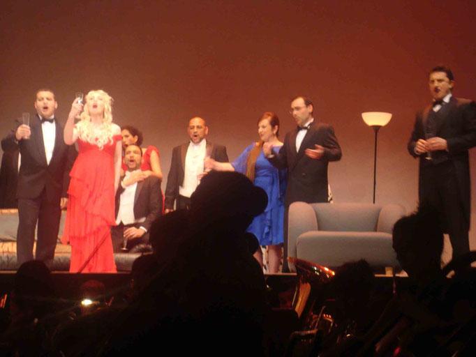 Ópera LA TRAVIATA Junio 2009, en escena