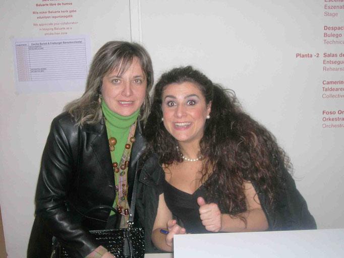 Con Cecilia Bartoli Pamplona 2006