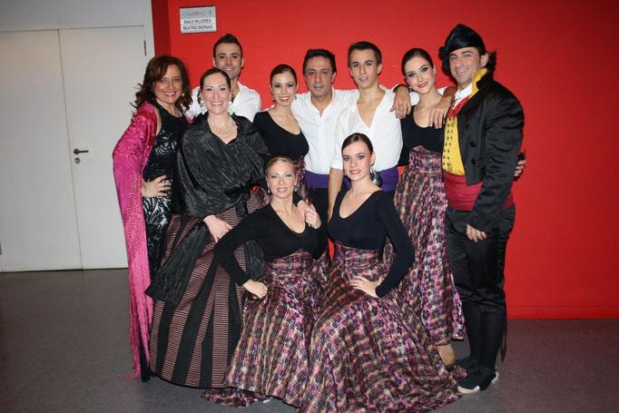 Con cuadro de baile,  Nacho del Rio  y Beatriz Bernad...Fabulosos
