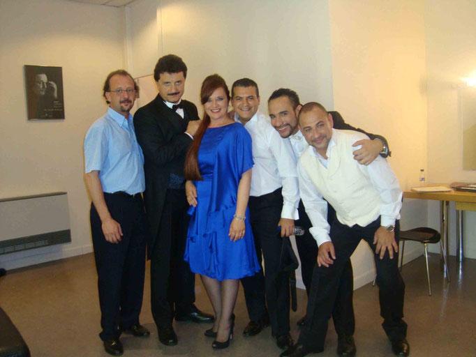 Ópera LA TRAVIATA Junio 2009 con mis compañeros de reparto