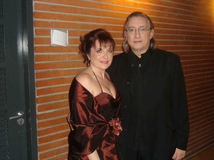 Con mi querido profesor y gran pianista Juan Antonio Alvarez Parejo
