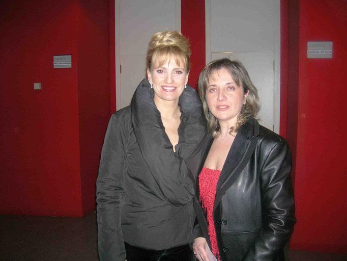 Con Ainhoa Arteta Zaragoza 2007