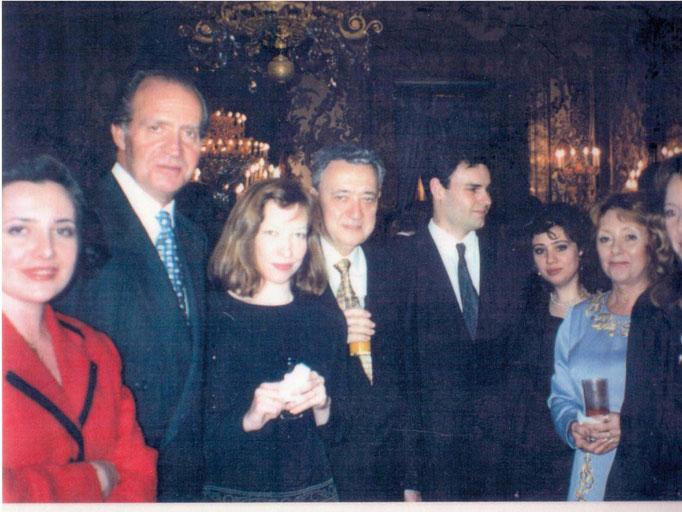 Entrega de premios con el Rey Juan Carlos I 1996