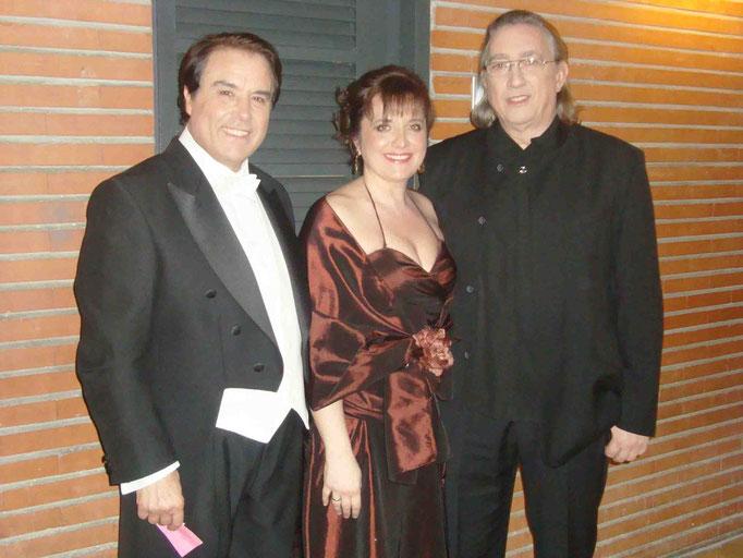 Con Luis Romero y Juan Antonio Alvarez Parejo .Teatro Principal de Zaragoza