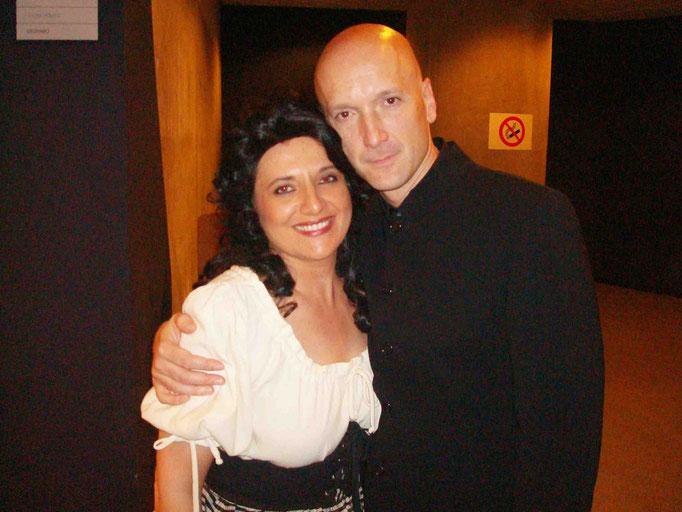 Con Juan Luis Martinez director de orquesta en CARMEN 2008