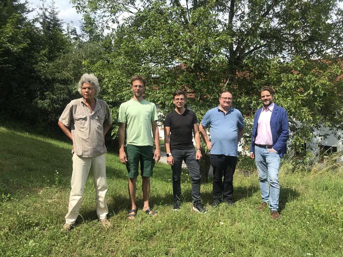 v.l.: Peter Olbrich, Olaf Lübbemeier, Wolfgang Vallant, Willi Flatz, Gregor Kremsmüller