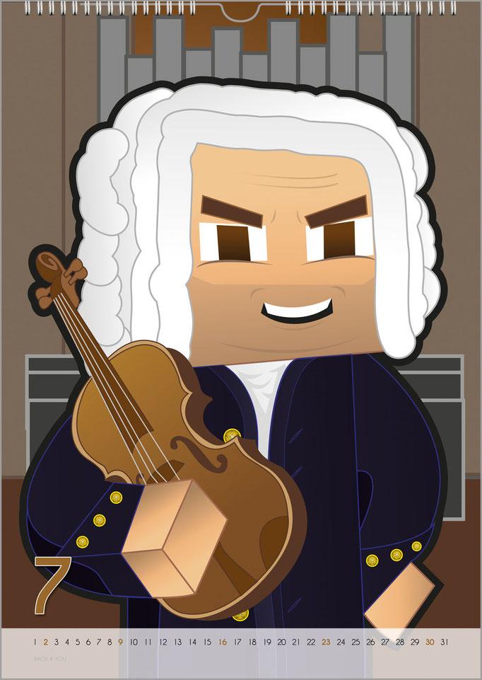 Musik-Geschenk Bach-Kalender 68 im Juli.