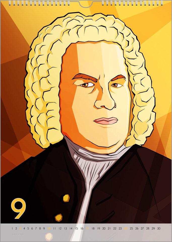 Musik-Geschenk Bach-Kalender 68 im September.
