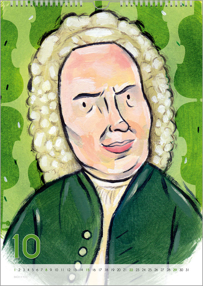 Musik-Geschenk Bach-Kalender 68 im Oktober.