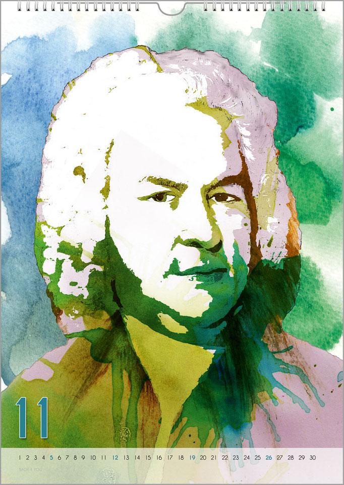 Musik-Geschenk Bach-Kalender 68 im November.