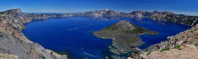 der tiefste See der USA (tiefster Punkt 594m)