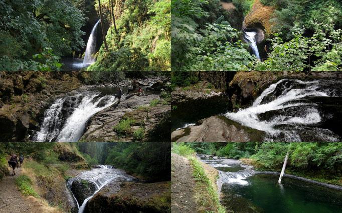 unzählige Wasserfälle entlang des Eagle Creek Trail