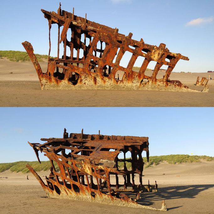 Schiffswrack der Peter Iredale von 1906