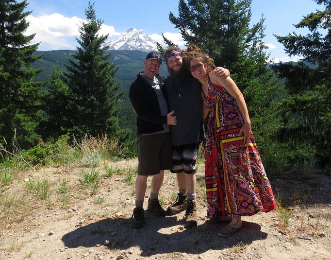 drei meiner neuen Freunde - sie alle sind Ranger im Mt. Hood National Forest & waren so nett, mich auf einen Backpacking-Trip mitzunehmen