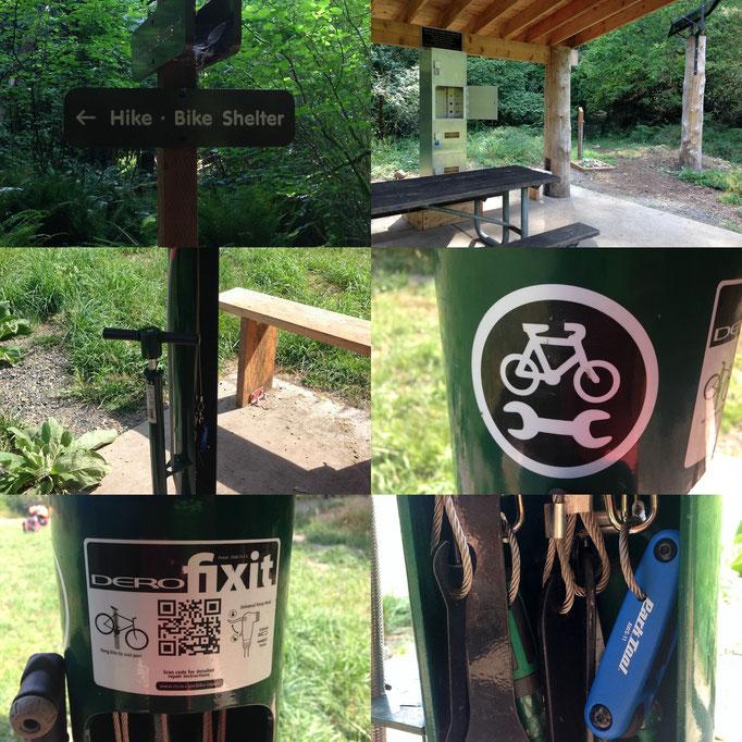 moderne Hiker-Biker-Zeltplätze in den Champoeg & Milo McIver State Parks