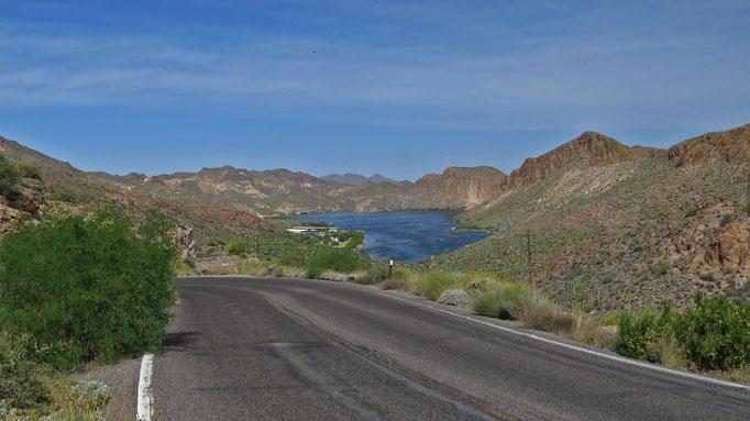 Blick zurück zum Canyon Lake / view back towards Canyon Lake