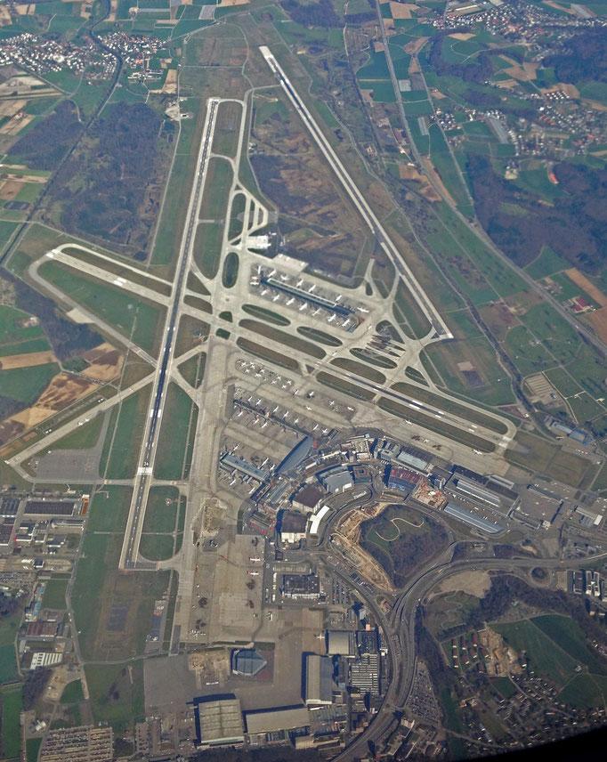 Flughafen Zürich von oben