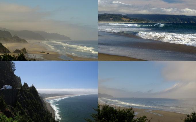 Blicke auf den Ozean entlang der Küstenstrasse 101