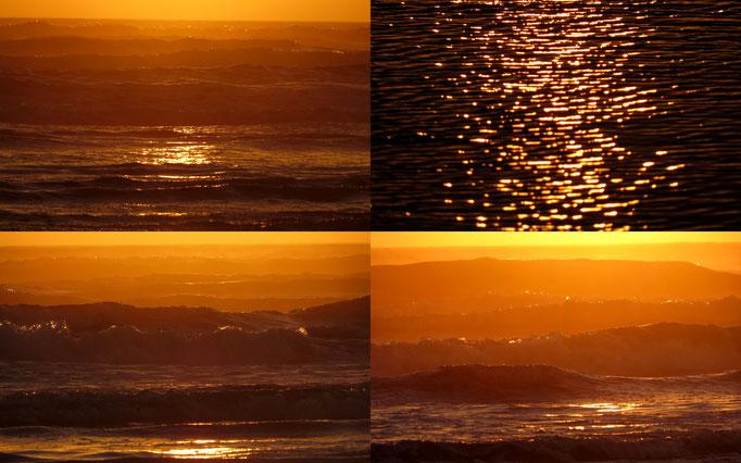 die Wellen wirkten eher wie Berge durch die Beleuchtung