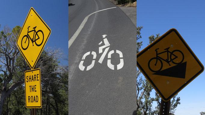 ab und an verliefen Wander- und Radweg auf dem selben Stück