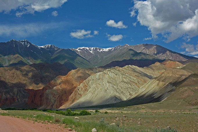 beautiful colored Kyrgyz mountains
