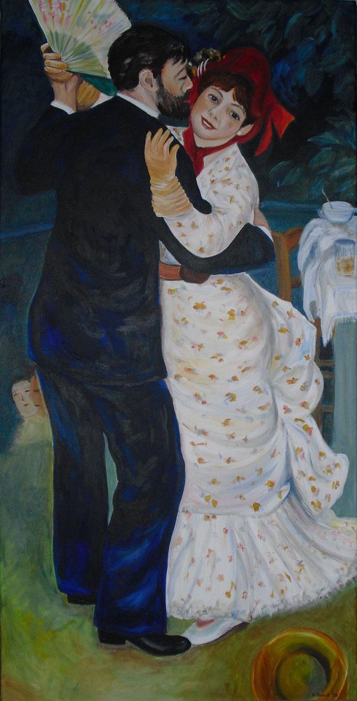 Renoir: Tanz auf dem Land (120x60cm)