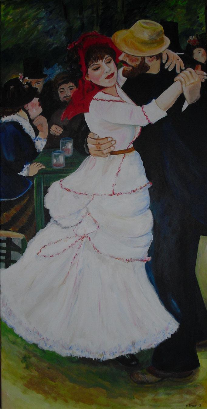 Renoir: Tanz im Bougival (120x60 cm)