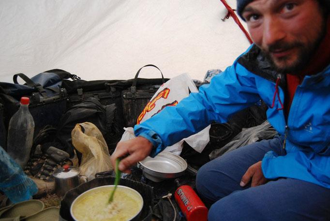 Cuisine sous tente