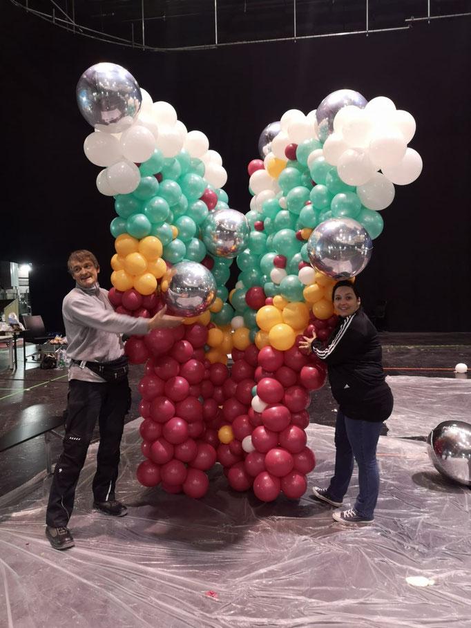 Ballons für einen Messestand in MUC