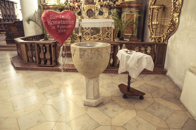 personalisiertes Folienherz zur Taufe