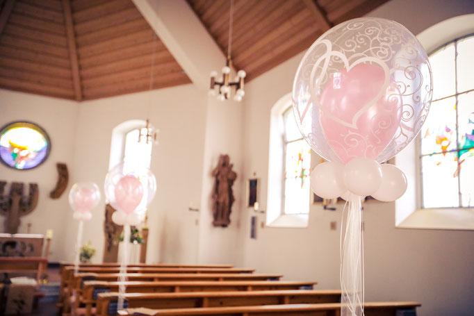Bubbles als Kirchendeko