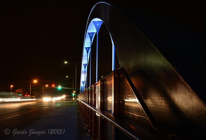 """Die """"blaue Brücke""""; Düren"""