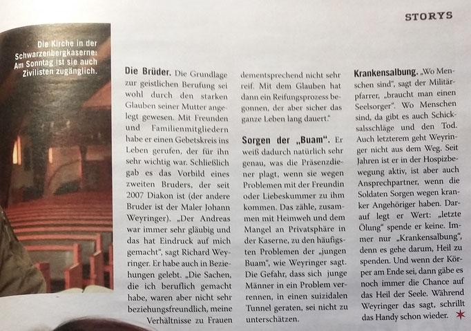 Seite 21 ((Weekend-Magazin vom 23./24. März 2018 (NR. 5, Autor Gert Damberger))