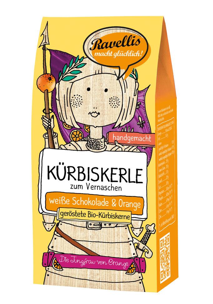 Kürbiskerne weisse Schokolade & Orange