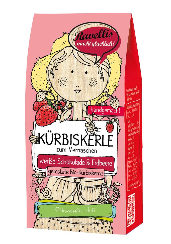 Kürbiskerne weisse Schokolade & Erdbeere